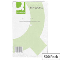 Q-Connect Envelopes C5 100gsm Plain Peel and Seal White Pack of 500 1P08