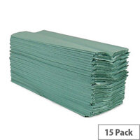 2Work Green 1-Ply C-Fold Paper Hand Towels (2880 Sheets) HC128GRVW
