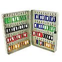 Q-Connect 80-Key Key Safe Cabinet Pearl Grey