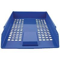 Q-Connect Letter Tray Plastic Blue KF10052