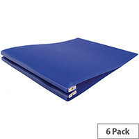 Q-Connect Printout Binder 260x305mm Blue Pack of 6 KF11018