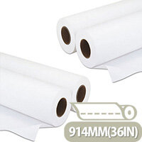 Q-Connect White Plotter Paper 914mm x 50m (4 Pack)