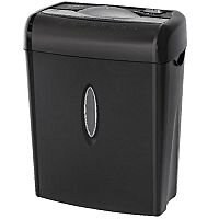 Q-Connect Cross Cut Paper Shredder With 14 Litre Bin Security Level 3 - Ideal in the home or office as deskside shredder. 14 litre waste bin. Reverse function and overheating protection.