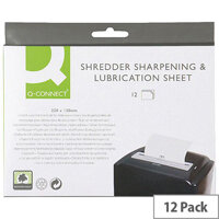 Q-Connect Shredder Sharpening and Lubrication Sheet 220x150mm Man. Ref. KF18470 (Pack of 12)