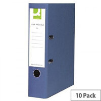 Q-Connect Blue Polypropylene Lever Arch File A4 Pack of 10