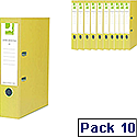Q-Connect Yellow A4 Polypropylene Lever Arch File Pack of 10