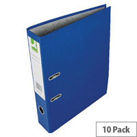 Q-Connect Blue Foolscap Paperbacked Lever Arch File Pack of 10