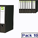 Q-Connect Black A4 Paperbacked Lever Arch File Pack of 10