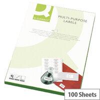 Q-Connect 16 Per Sheet Multi-Purpose Labels 99.1x34mm (1600 Labels)