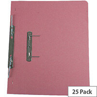 Q-Connect Transfer File Foolscap/A4 35mm Capacity Pink Pack 25