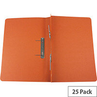 Q-Connect Transfer File Foolscap/A4 35mm Capacity Orange Pack 25