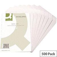 Q-Connect C5 White Envelopes 90gsm Pocket Press Seal Pack 500 KF3469