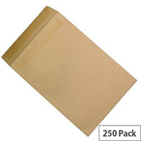 Q-Connect Manilla Pocket Envelopes 381x254mm 90gsm Self Seal Pack of 250