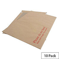 Q-Connect Board-Back Envelopes C4 115gsm Manilla Peel and Seal (Pack of 10)