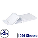 Q-Connect Listing Paper 279 x 241mm 2-Part NCR Plain Pack 1000