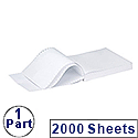 Q-Connect 1-Part 60gsm 279 x 241mm Listing Paper Plain Micro-Perforated Pack 2000