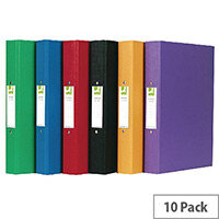 Q-Connect 2-Ring Binder A4 Polypropylene Assorted Pack of 10 KF71446
