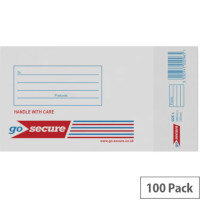 GoSecure Bubble Lined Envelope Size 1 100x165mm White Pack of 100