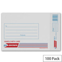 GoSecure Bubble Lined Envelope Size 3 150x215mm White Pack of 100