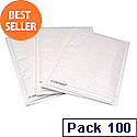 Q-Connect Size 4 Bubble Lined Envelopes 180x265mm White Pack of 100