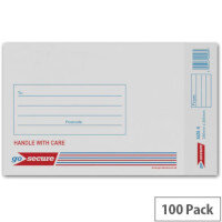 GoSecure Bubble Lined Envelope Size 4 180x265mm White Pack of 100