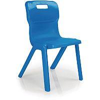 Titan One Piece School Chair Size 3 350mm Blue