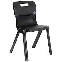Titan One Piece School Chair Size 3 350mm Charcoal