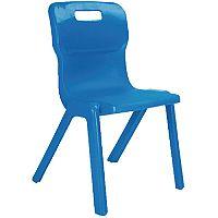 Titan One Piece School Chair Size 4 380mm Blue