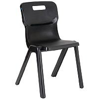 Titan One Piece School Chair Size 4 380mm Charcoal