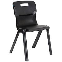 Titan One Piece School Chair Size 5 430mm Charcoal
