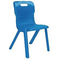 Titan One Piece School Chair Size 6 460mm Blue