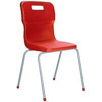 Titan 4 Leg Polypropylene School Chair Size 3 Red