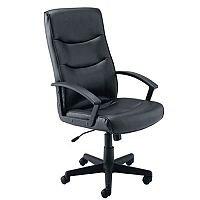 Jemini Leather Look Executive Armchair Black