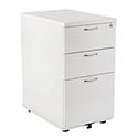 Jemini 3 Drawer Desk High Pedestal 800mm White KF74150