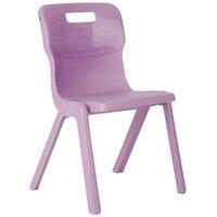 Titan One Piece School Chair Size 1 260mm Purple