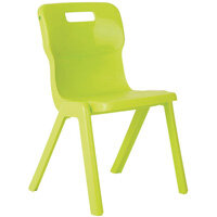 Titan One Piece School Chair Size 4 380mm Lime