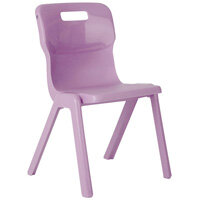 Titan One Piece School Chair Size 5 430mm Purple