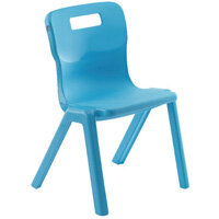 Titan One Piece School Chair Size 1 260mm Sky Blue Pack of 10