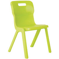 Titan One Piece School Chair Size 2 310mm Lime Pack of 10