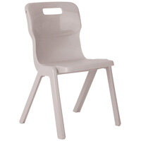 Titan One Piece School Chair Size 5 430mm Grey Pack of 10