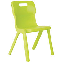 Titan One Piece School Chair Size 6 460mm Lime Pack of 10