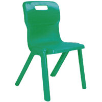 Titan One Piece School Chair Size 1 260mm Green Pack of 30