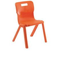 Titan One Piece School Chair Size 4 380mm Orange Pack of 30