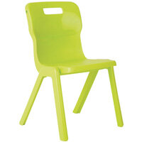 Titan One Piece School Chair Size 4 380mm Lime Pack of 30