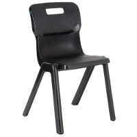Titan One Piece School Chair Size 5 430mm Black Pack of 30