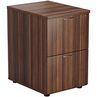 Jemini Walnut 2 Drawer Filing Cabinet KF78956