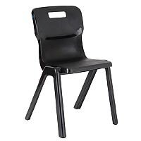 Titan One Piece School Chair Size 6 460mm Charcoal Pack of 10