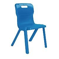 Titan One Piece School Chair Size 4 380mm Blue Pack of 30