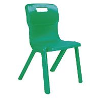 Titan One Piece School Chair Size 4 380mm Green Pack of 30
