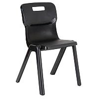 Titan One Piece School Chair Size 6 460mm Charcoal Pack of 30